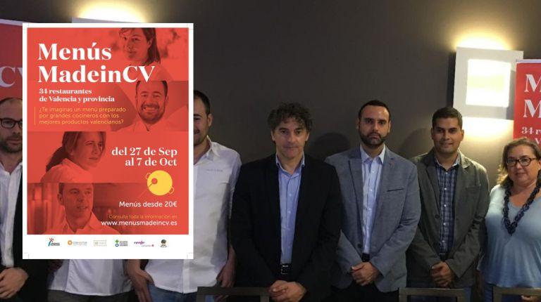Jornadas Gastronómicas Menús MadeinCV para promover los productos autóctonos