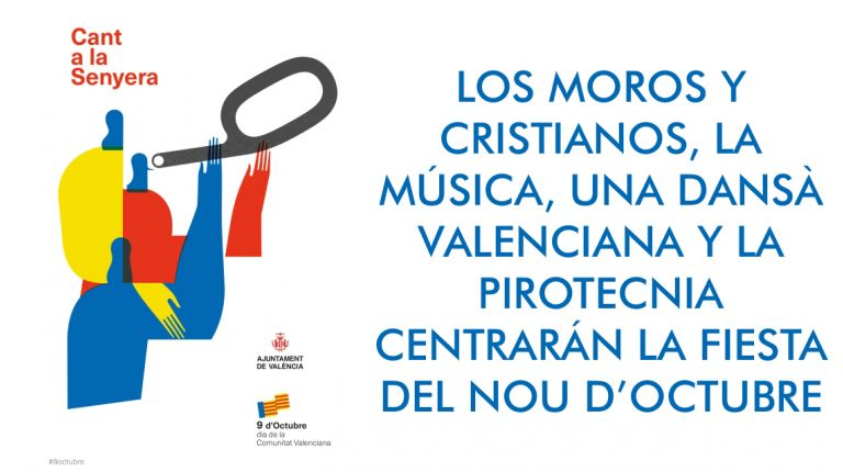 LOS MOROS Y CRISTIANOS, LA MÚSICA, UNA DANSÀ VALENCIANA Y LA PIROTECNIA CENTRARÁN LA FIESTA DEL NOU D'OCTUBRE