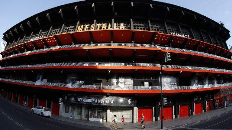 El estadio de Mestalla de València