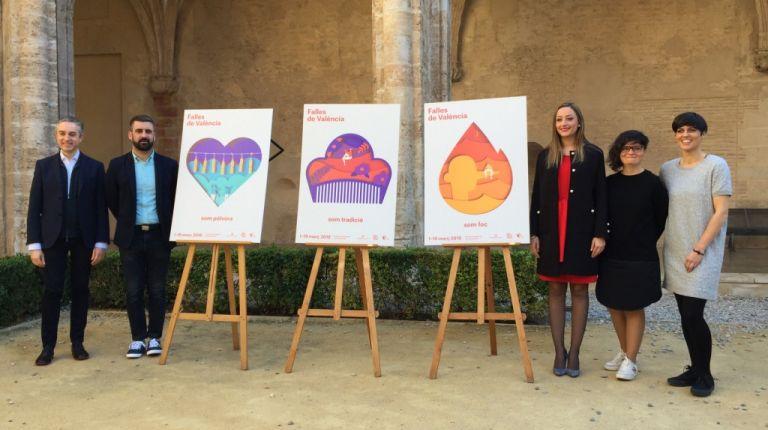 Fuego, pólvora y tradición componen la imagen gráfica de las Fallas 2018