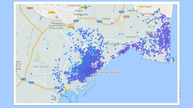 La hotelización de las viviendas en la ciudad de Alicante dobla la oferta hotelera de la ciudad