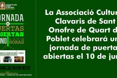 JORNADA DE PUERTAS ABIERTAS CLAVARIS DE SANT ONOFRE
