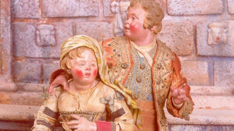 Belén napolitano en el Museo de Cerámica de Valencia datado en el siglo XVIII