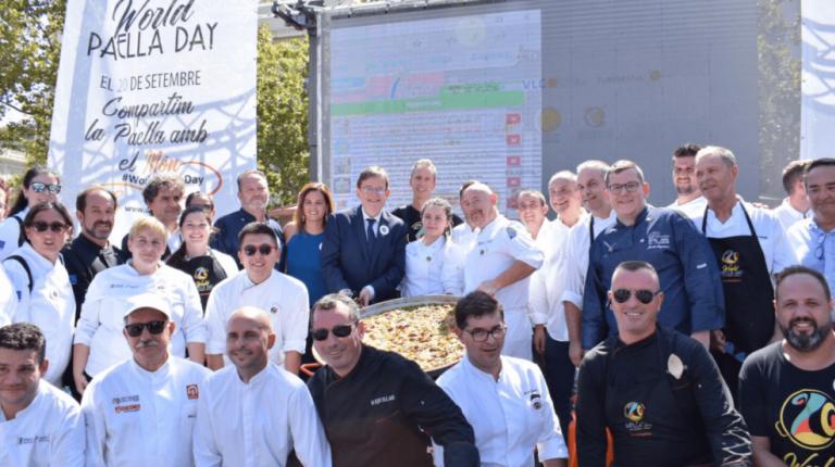 La celebración del primer World Paella Day se extiende desde Valencia a todo el mundo