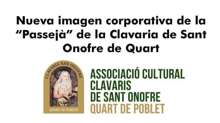 """Nueva imagen corporativa de la """"Passejà"""" de la Clavaria de Sant Onofre de Quart"""