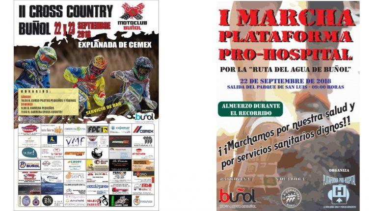 El deporte vuelve a ser protagonista en Buñol con la I Marcha Plataforma Pro-Hospital y el II Cross Country