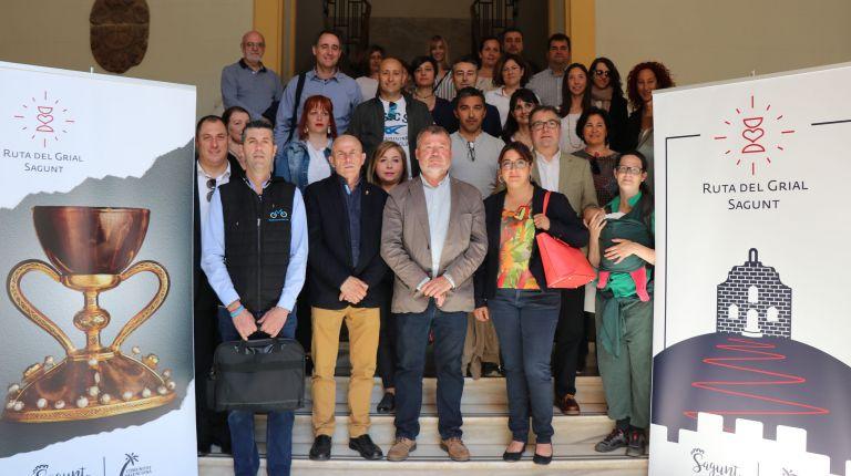 Empresas, asociaciones y representantes de los municipios valencianos de la Ruta del Grial se reúnen en Sagunto