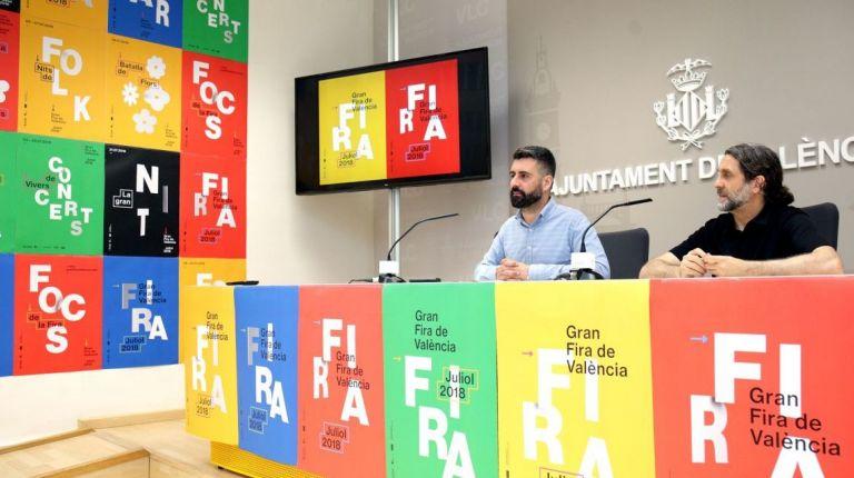 LA IMAGEN GRÁFICA DE LA GRAN FERIA DE VALÈNCIA MUESTRA LA DESCENTRALIZACIÓN DE LA FIESTA EN LOS BARRIOS