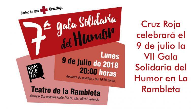 Cruz Roja celebrará el 9 de julio la VII Gala Solidaria del Humor en La Rambleta