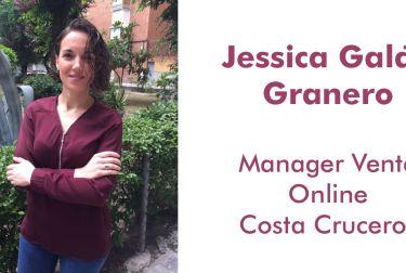 Jessica Galán Granero, Manager Venta Online en Costa Cruceros y Fallera Mayor de Sueca Literato Azorín